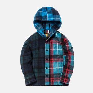 NWT Kith Kids Combo Plaid Flannel Shirt- Multi